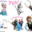 『アナと雪の女王』のLINEスタンプ(C) Disney Enterprises, Inc. All Rights Reserved.